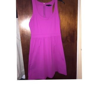 Fuscia Dress! Spandex/Nylon, zippered back.
